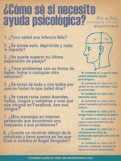 ¿Cómo sé si necesito ayuda psicológica?  How do I know if I need psychological help?