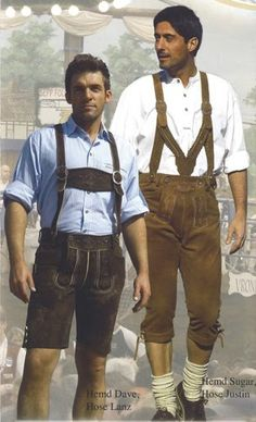I need to remind students that Lederhosen are only typical in southern Germany and the Tirol area... and that they're usually only worn for festivals in the younger generations.
