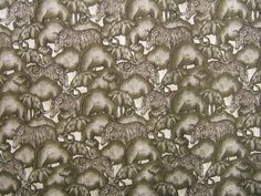 Animals (Grey) by International Textiles for Fabricland.  Available on dwfabric.co.uk (£13.99/m)