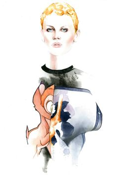Illustration.Files: Givenchy F/W 2013 Illustration by António Soares