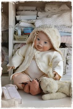 **I made a doll with the down-syndroom, I wanted to explain why  but I do not...,...... It speaks for itself, its pure and incredibly  beautiful!**  Clothes-doll (not for sale)**