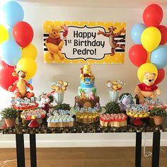 For the love of the all time favorite Winnie The Pooh party! Thinking of such a party theme for your little one(s) next birthday? We have plenty of party items to pull off a picture perfect party! Come on in and shop with us Winnie The Pooh Themes, Winnie The Pooh Cake, Winnie The Pooh Birthday, Baby 1st Birthday, 1st Boy Birthday, Boys First Birthday Party Ideas, Boy Birthday Parties, Birthday Party Decorations, Pooh Baby