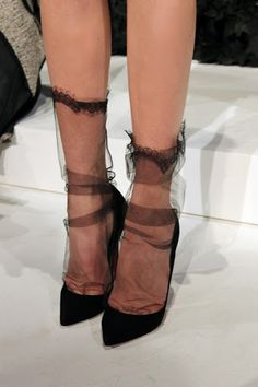 Gee when my nylons looked like this I wanted to cry...now its the style?
