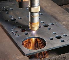 @Hypertherm #Plasmacutting is heralded for its ability to cut ferrous as well as non-ferrous material and at speeds often faster than oxyfuel can achieve. http://weldingproductivity.com/article/plasma-vs-oxyfuel/