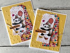 Sneak peek of Occasions 2018 with Party Panda and Tutti Frutti. Handmade DIY birthday card video tutorial. Easy with no expensive or special tools needed.