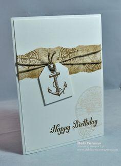 A fabulous CAS card using The Open Sea. Thanks Deb!