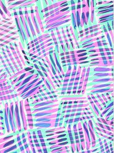 Criss cross - Sarah Bagshaw. Pink purple aqua teal turquoise