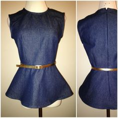 April 2013 Sewing Challenge: Another Peplum Top (Vogue 8815) / Sew Urbane