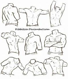 Corpo masculino - desenhando -referencias