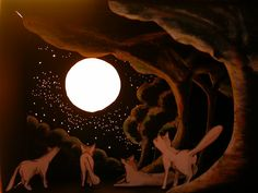Paper theater: Aullando a la Luna