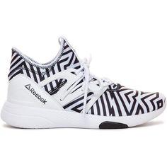 """Reebok """"Hyasu Dance Model Sneaker ($90) ❤ liked on Polyvore featuring shoes, sneakers, reebok, reebok trainers, reebok shoes, retro shoes and reebok footwear"""