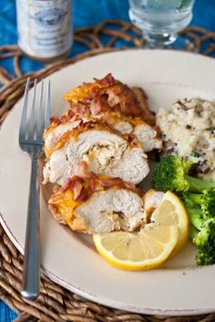 Chicken Chesapeake (Chicken Stuffed with Crab Meat Filling with Bacon Cheddar Crumble)
