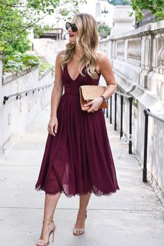 e075c5924f1 fall outfit inspiration - Fall Wedding Guest Dress Guide by Chicago style  blogger Visions of Vogue