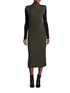Rag & Bone Dale Merino Wool Rib-Knit Maxi Dress