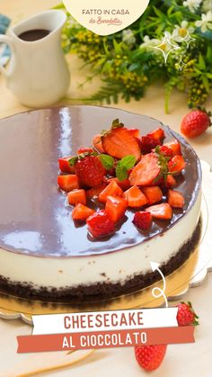 Light Desserts, Summer Desserts, Strawberry Cheesecake, Chocolate Cheesecake, Biscotti, Nutella, Cake Recipes, Dessert Recipes, Baking School