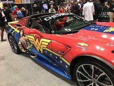 Corvette Wonder Woman Two of my favorite things in one! Superman Wonder Woman, Wonder Woman Logo, Dc Comics, Wonder Woman Birthday, Best Superhero, Lynda Carter, Dc Memes, Wonder Women, Gal Gadot