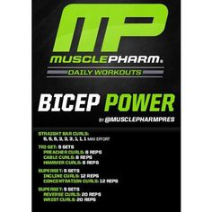 #MP Workout of the Day! Bicep Power by @musclepharmpres  Powered by #Assault Tag someone who wants huge biceps!