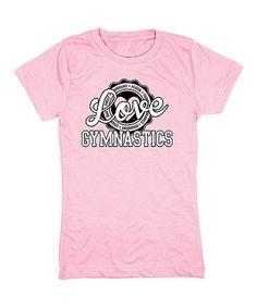 Another great find on #zulily! Light Pink 'Love Gymnastics' Fitted Tee - Girls #zulilyfinds