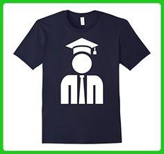 Mens Professor icon T-Shirt Large Navy - Careers professions shirts (*Amazon Partner-Link)