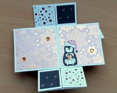carte sans fin-marianne38 (3) Mix Media, Kirigami, Mini Albums Scrap, Stampin Up, Diy And Crafts, Marianne, Pop Up, Letters, Never Ending Card