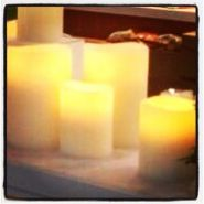 Flameless battery operated candles, hand made, real wax & they really do have a life like flicker and glow. Available at thatonlineshop.com.au