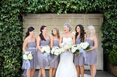 Lavender grey bridesmaids dresses   Half Full Photography