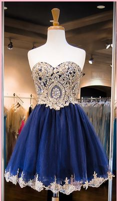 Cute Royal Blue Homecoming Dresses, Short Prom Dresses, Lace Organza Homecoming Dresses, Lovely Party Dresses, Custom Made Homecoming Dresse Dresses Short, Prom Dresses Blue, Pretty Dresses, Beautiful Dresses, Evening Dresses, Dresses 2016, Dresses Dresses, Royal Blue Homecoming Dresses, Blue Wedding Dresses