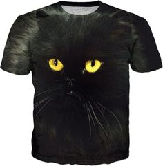 SOLD Black #Cat All Over Print #Tshirt design by #ErikaKaisersot for sale on @RageOn
