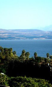 Tiberias, Israel overlooking the Sea of Galilee