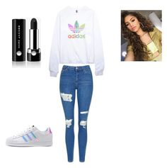 """Glo'd up"" by duna748 ❤ liked on Polyvore featuring adidas, Topshop, adidas Originals and Marc Jacobs"