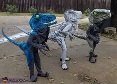 Jurassic World Dinosaurs Costume - Halloween Costume Contest Dinosaur Halloween Costume, T Rex Costume, Halloween Costume Contest, Halloween Costumes For Kids, Costume Works, Dinosaur Party, Jurassic World Movie, Jurassic World Dinosaurs, Boy Costumes