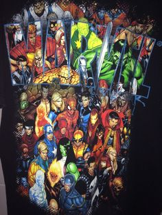 Marvel Comics Collage of Superheroes & Villians Men's Large T-shirt in Collectibles, Comics, Apparel & Accessories | eBay!