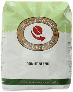 Coffee Bean Direct Donut Blend, Whole Bean Coffee, 5-Pound Bag - http://www.teacoffeestore.com/coffee-bean-direct-donut-blend-whole-bean-coffee-5-pound-bag/