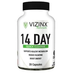 VIZINX 14 Day Quick Cleanse - Supports The Elimination of Toxins and Wastes While Restoring Healthy Bacteria levels. Improves Energy and Digestive Health, Reduces Belly Bloat, Healthy Weight Loss ^^ Additional details found at the image link  : Detox and Cleanse