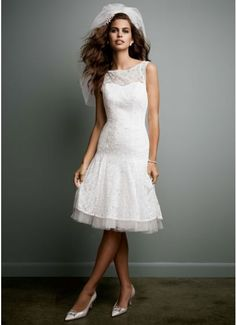 All Over Lace Short Dress with Illusion Neckline AI16030059