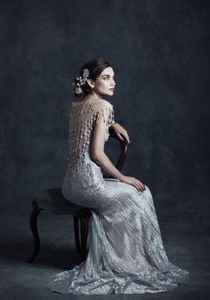vestido de noiva claire pettibone gothic angel florence com costas transparentes #casarcomgosto