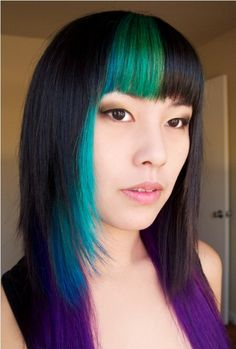 peacock hair dye china Peacock Dyed Hair for Eclectic Visual Impression