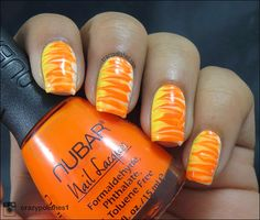Halloween Series-  Candy Corn Inspired Dry Marble!!! by crazypolishes.com http://www.crazypolishes.com/2014/10/halloween-series-mummies-and-candy-corn.html #halloween #nailart #candycorn #notd