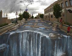 kunst op straat edgar mueller waterval