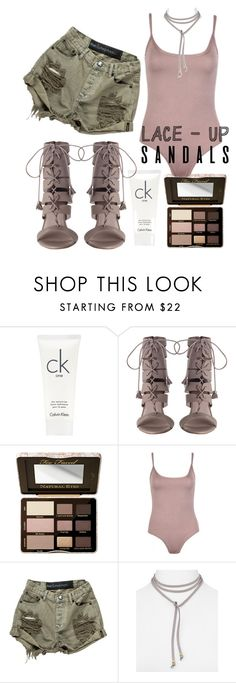 """Untitled #65"" by styledbyminx ❤ liked on Polyvore featuring Calvin Klein, Too Faced Cosmetics, Jules Smith, contestentry, laceupsandals and PVStyleInsiderContest"