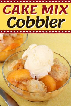 This cake mix cobbler recipe is the easiest and fastest way you can enjoy a homemade peach cobbler. With just 3 ingredients, you'll have a homemade dessert on the table in no time. Patti Labelle Peach Cobbler Recipe, Peach Cobbler With Bisquick, Homemade Peach Cobbler, Homemade Vanilla, Homemade Desserts, Cookbook Recipes, Dessert Recipes, Cooking Recipes, Best Cake Recipes