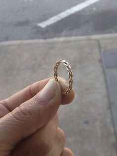 Braided 14k Gold Fill Stacking Ring by HomegrownSilverStone