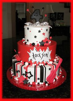 Justin's Rock and Roll Cake by cakesbyashley, via Flickr