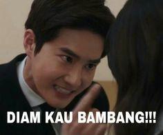 Ideas Memes Indonesia Exo For 2019 Memes Funny Faces, Funny Kpop Memes, Exo Memes, Cute Memes, Got7 Funny, Drama Memes, Cartoon Jokes, Meme Comics, Jokes Quotes