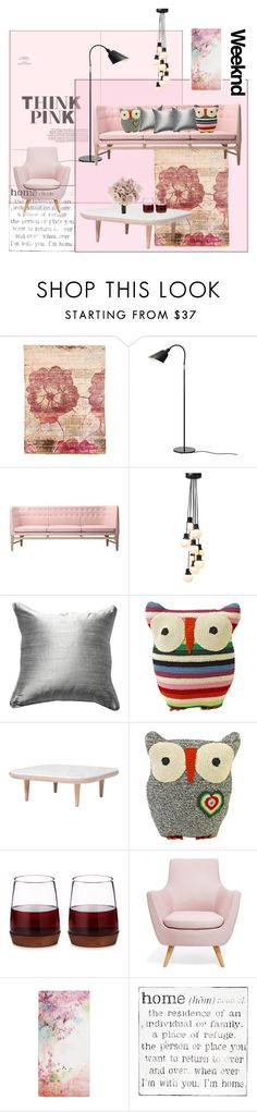 """""""Think Pink Weekend"""" by frenchfriesblackmg ❤ liked on Polyvore featuring interior, interiors, interior design, home, home decor, interior decorating, &Tradition, Bandhini Homewear Design, Anne-Claire Petit and Pink Marmalade"""