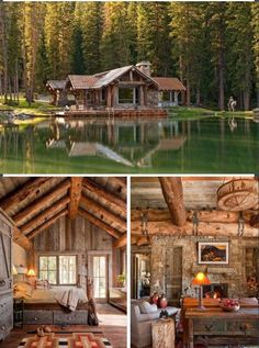 45 small log cabin homes ideas 38 Small Log Cabin, Log Cabin Homes, Log Cabins, Rustic Cabins, Cabins In The Woods, House In The Woods, Style At Home, Cabins And Cottages, Building A Shed