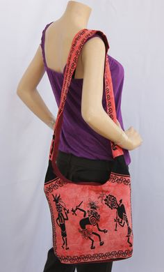 Finely Printed Jhola or shoulder fabric bag