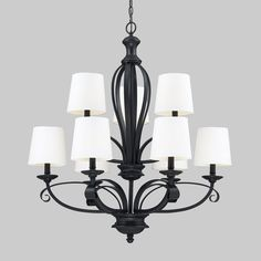 Z-Lite 200 Charleston 9-Light 2-Tier Chandelier