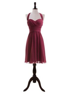 Sweetheart Halter Dress with Ruched Waistband – bridesmaids