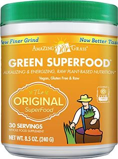 Your #1 Source for Grocery & Gourmet Food » Amazing Grass Greeen Superfood Original, 30 Servings, 8.5 Ounces